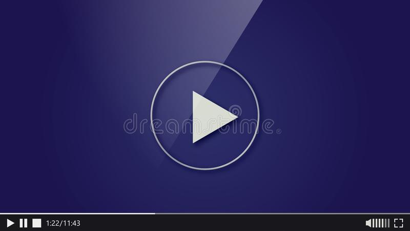 Design of the video player. Interface movie media play bar royalty free illustration