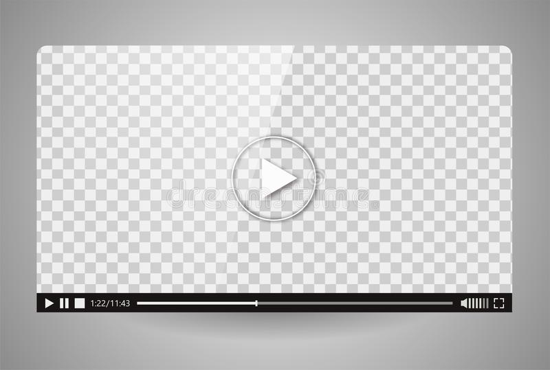 Design of the video player. Interface movie media play bar. Vector flat illustration royalty free illustration