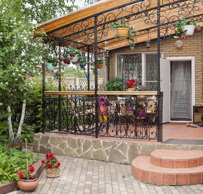 Design Of Villa Terraces Royalty Free Stock Photo
