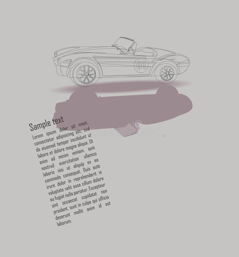 Design With A Vintage Car - Line Drawing Stock Photos