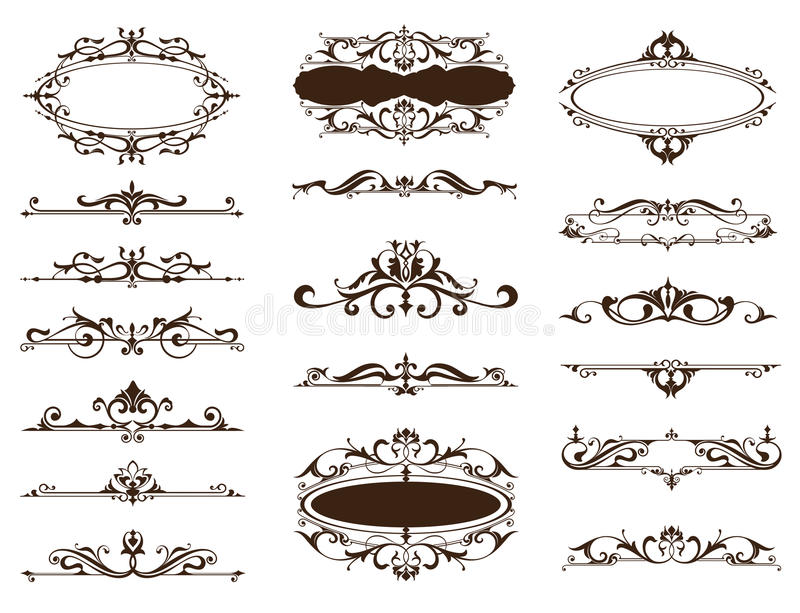 Design Vintage Ornaments Borders, Frames, Corners Stock Vector ...