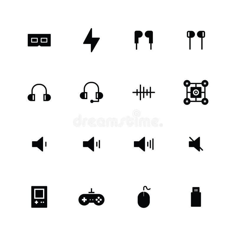 Design von Multimedia-Icons stock abbildung
