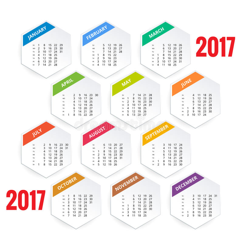 download design of wall monthly calendar for 2017 year week starts sunday set of