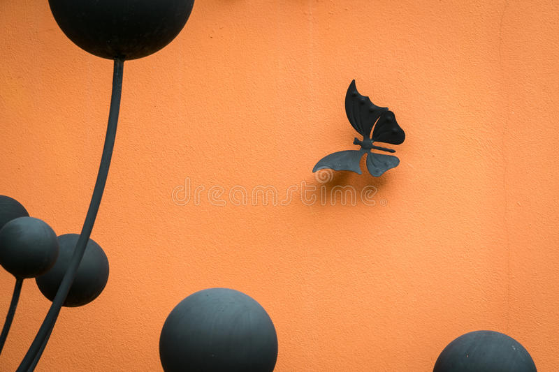 Design for wall, white butterflies, abstract, creative royalty free stock photo