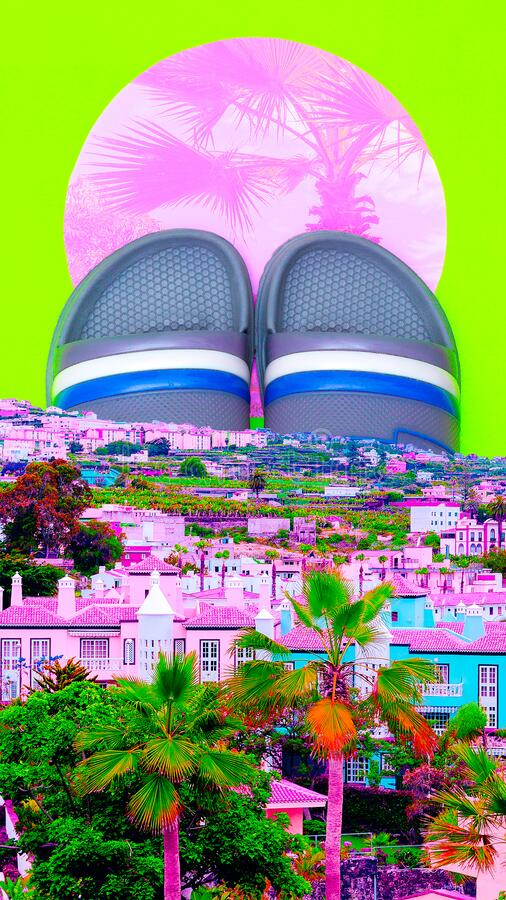 Aesthetic Collage Wallpaper Beach Vacation Summer Mood Stock Image Image Of Wallpaper Creative 188372091