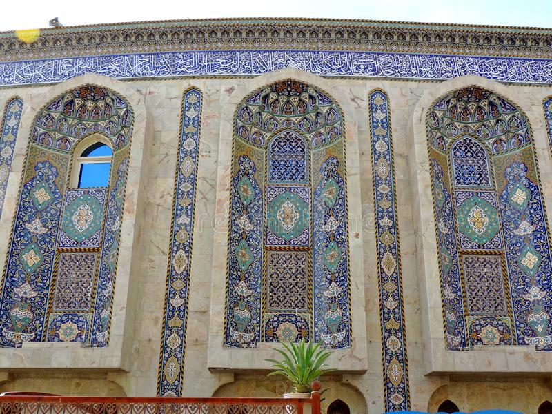 Design of the walls of Holy Shrine of Husayn Ibn Ali, Karbala, Iraq. The Imam Husain Shrine or the Station of Imam Husayn Ibn Ali is the mosque and burial site stock images