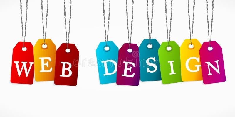 Design web ilustração royalty free
