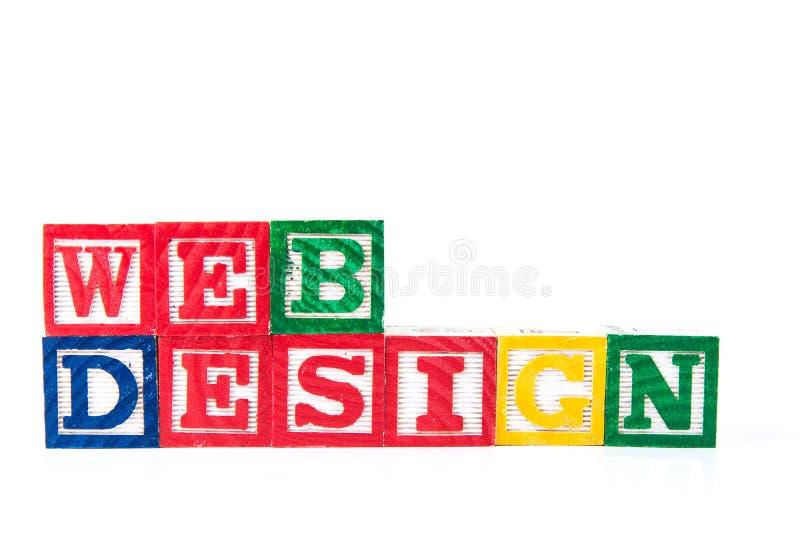Design web - blocos do bebê do alfabeto no branco fotos de stock royalty free