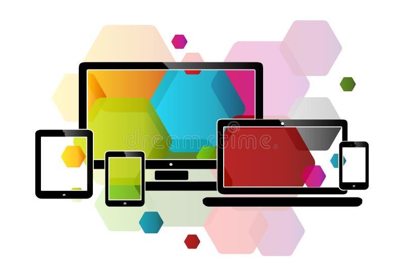 Design web do pente ilustração stock