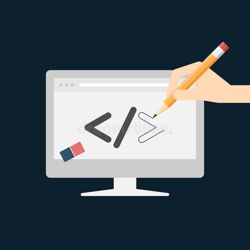 Design web e conceito do desenvolvimento ilustração royalty free