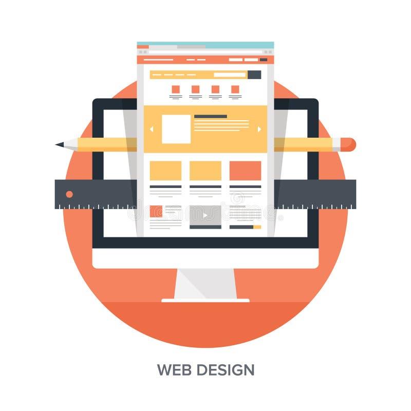 Design web e desenvolvimento ilustração royalty free
