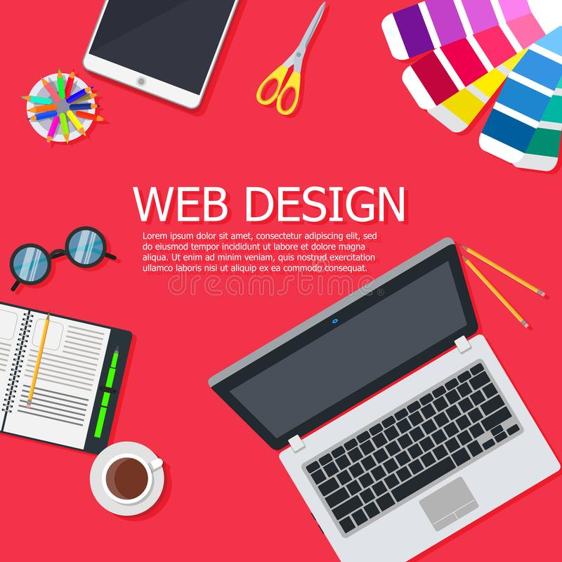 Design web interface website computer. Development responsive mobile, tablet, laptop UI screen. Digital technology site device vec. Tor. Banner sign network vector illustration