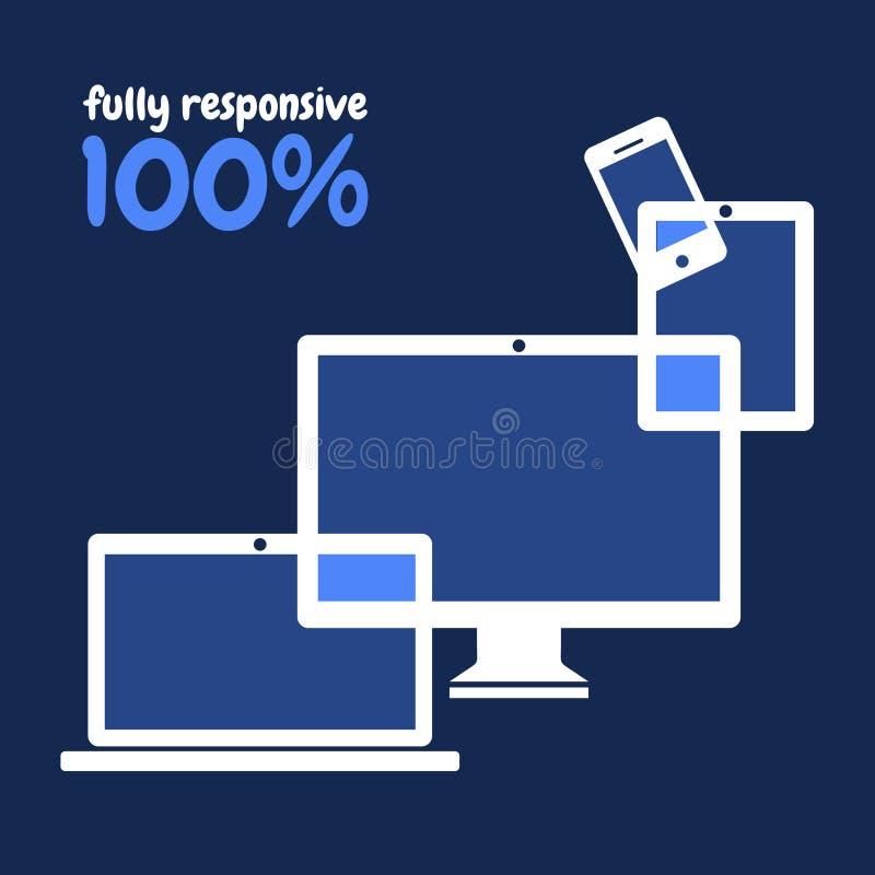 Design web responsivo ilustração do vetor