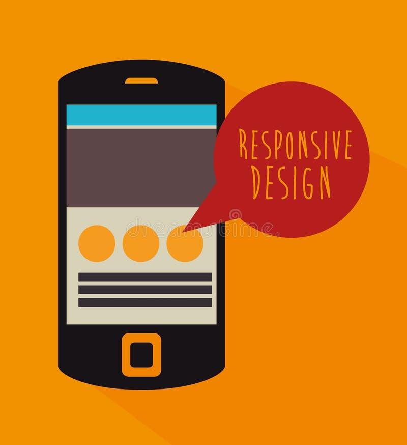 Design web responsivo ilustração stock