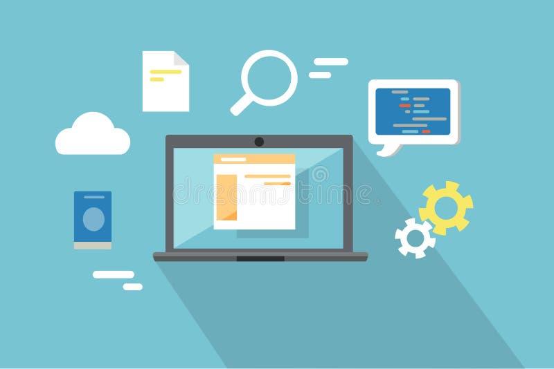 Design web, SEO Infographic Concept ilustração do vetor