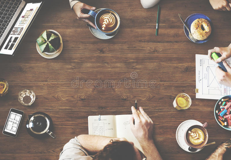Design web Team Working Planning Website Concept foto de stock