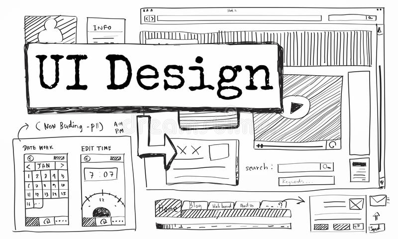Design Website Create Template Layout Concept vector illustration