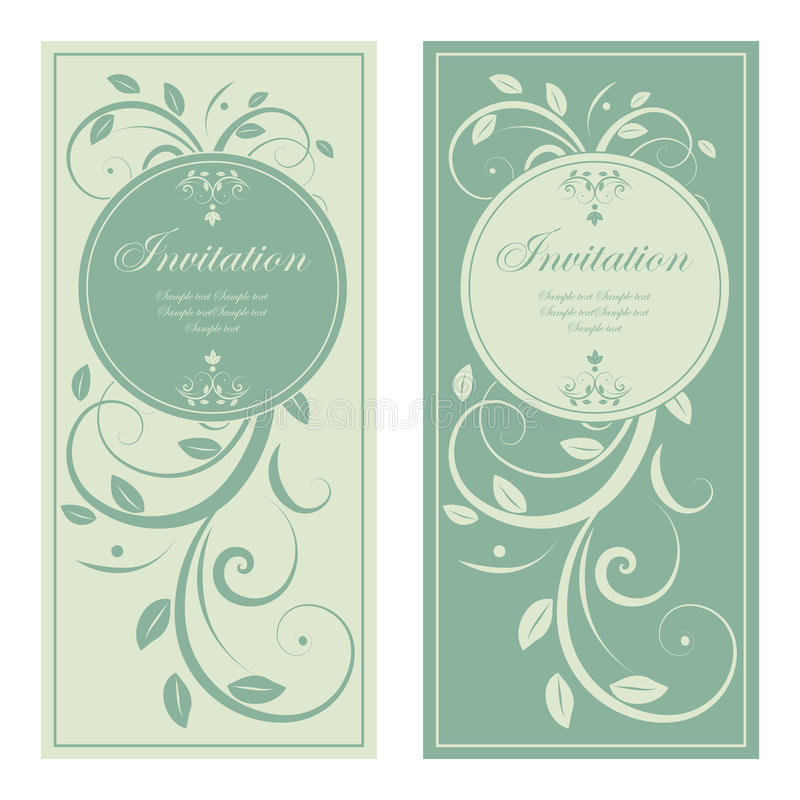 Design of wedding invitation stock illustration