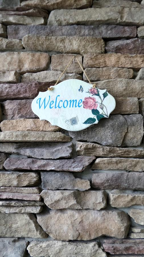 Free Design Welcome Sign Royalty Free Stock Photography - 49858647