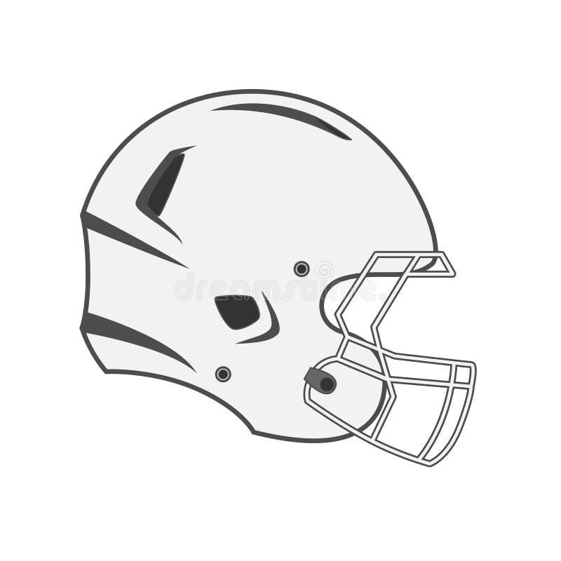 Design of white Football Helmet. Vector Design of graphic white Football Helmet vector illustration