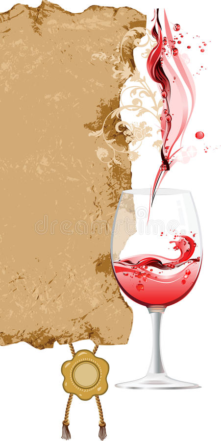 Design For Wine List. Royalty Free Stock Image