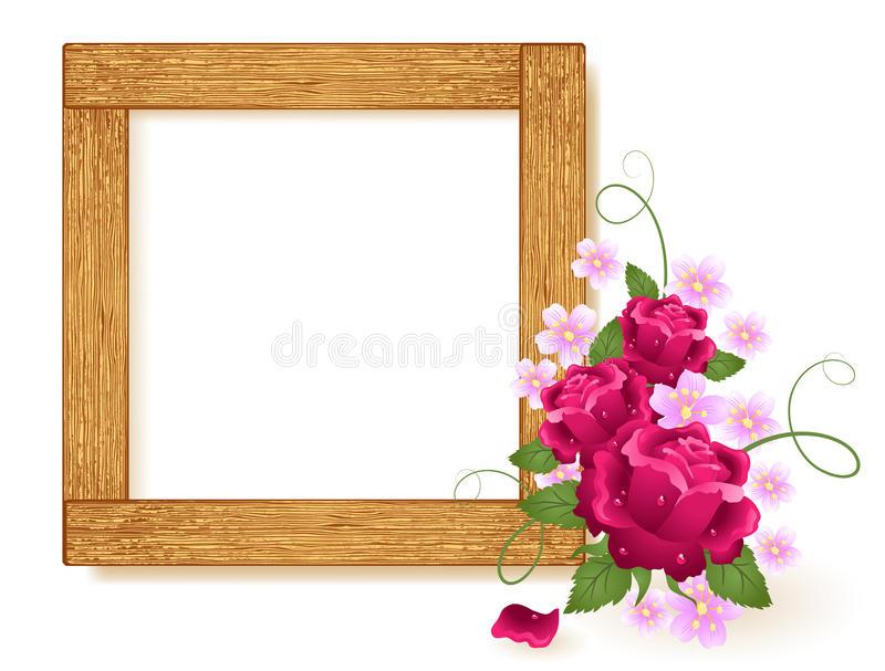 Design wooden photo frames stock illustration