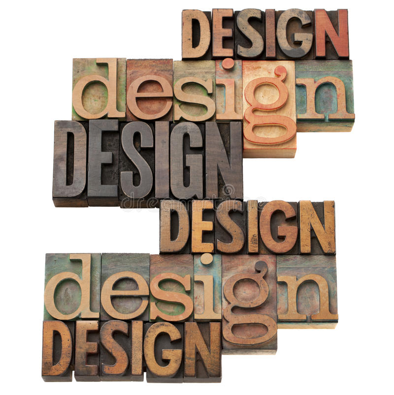 Design word collage royalty free stock images