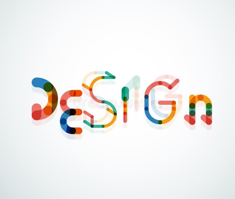 Design word font concept vector illustration
