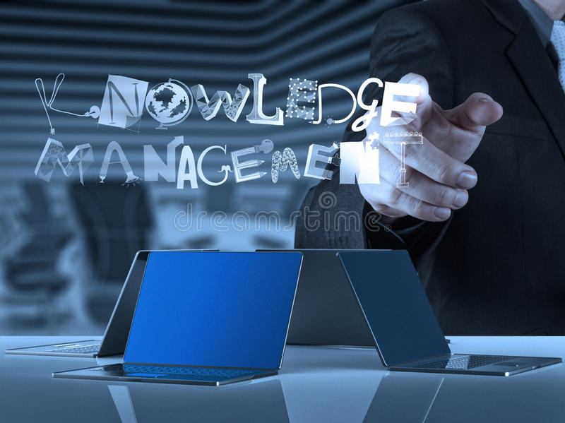 Design word KNOWLEDGE MANAGEMENT royalty free stock photo