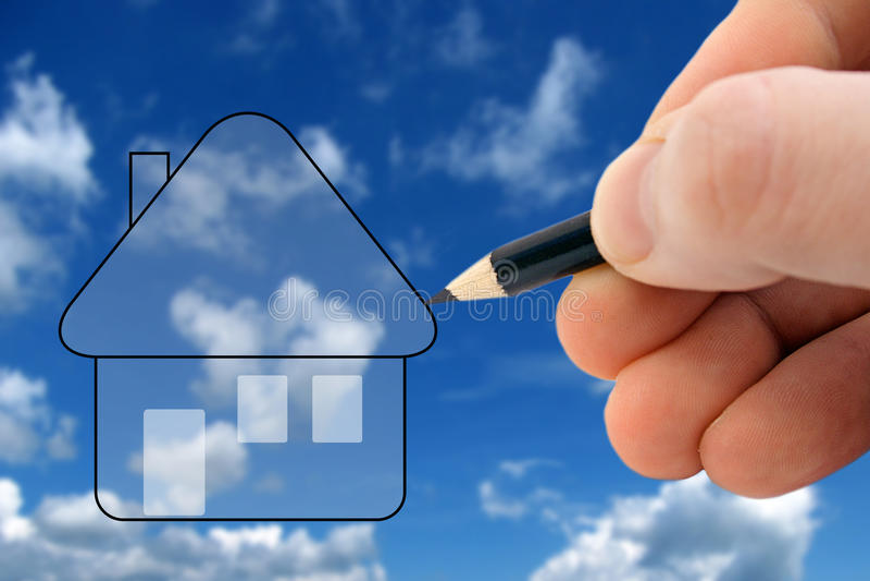 Design your dream house stock photos