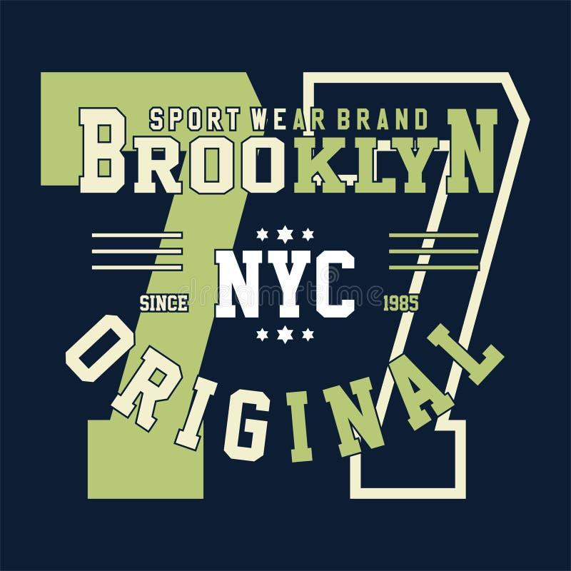 Designalphabet- und -zahlcollege Brooklyn lizenzfreie abbildung