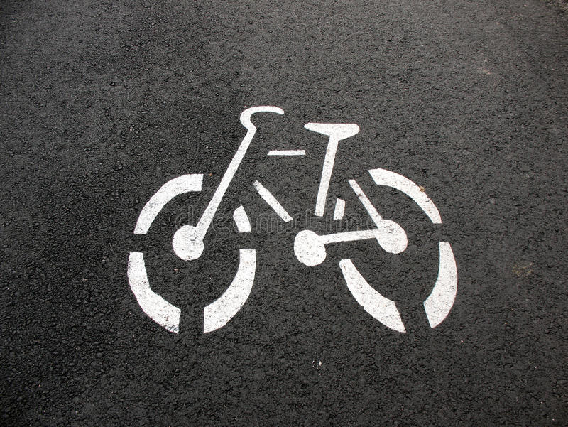 Designation Of A Bicycle Path Stock Photography