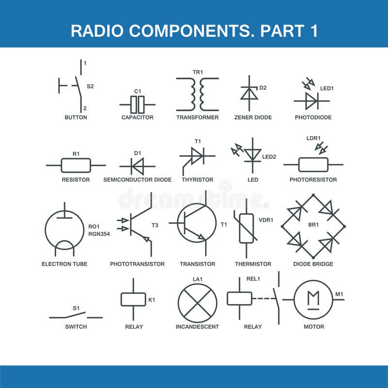 Designation Of Components In The Wiring Diagram Stock Illustration ...