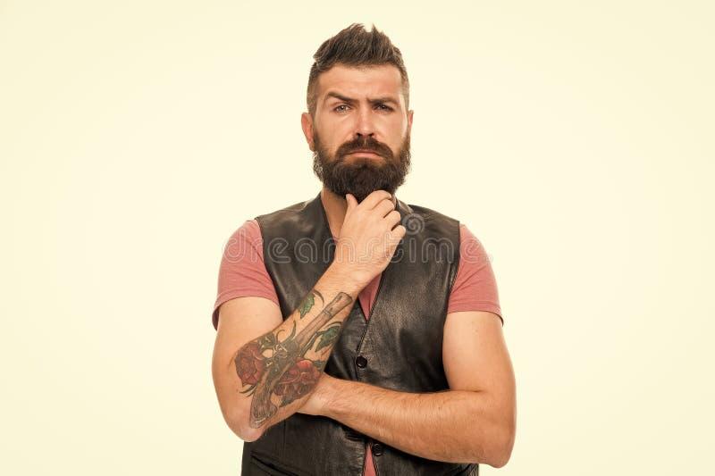 Designazione barba e dei baffi Governare della barba di tendenza di modo Trattamento dei capelli facciali Brutalit? e bellezza di fotografia stock libera da diritti
