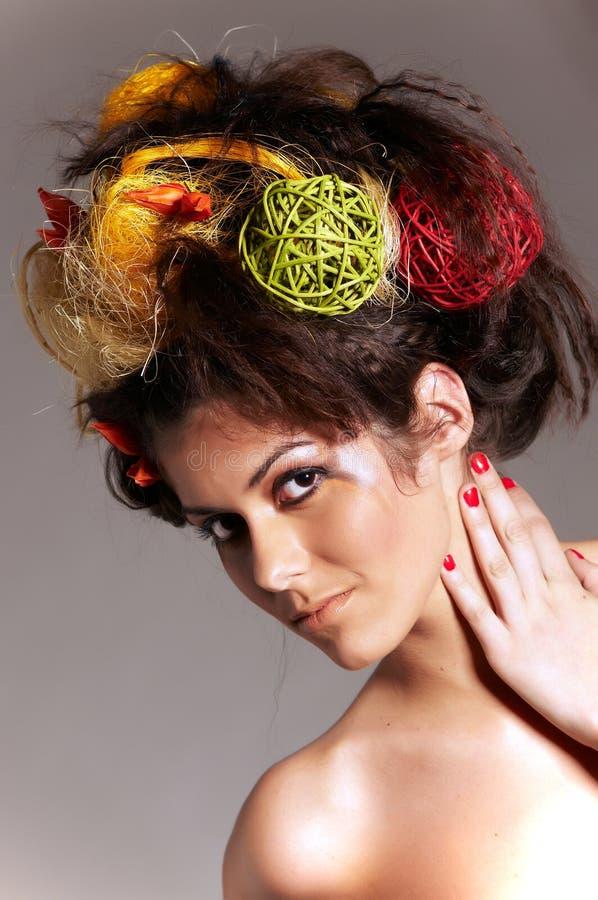 Designazione dei capelli fotografia stock libera da diritti