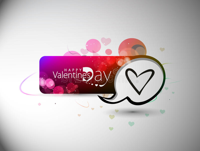 Designbackground coloré de drapeau de jour de Valentines illustration de vecteur
