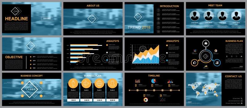 Designbeståndsdel av infographicsen för presentationsmallar royaltyfri illustrationer