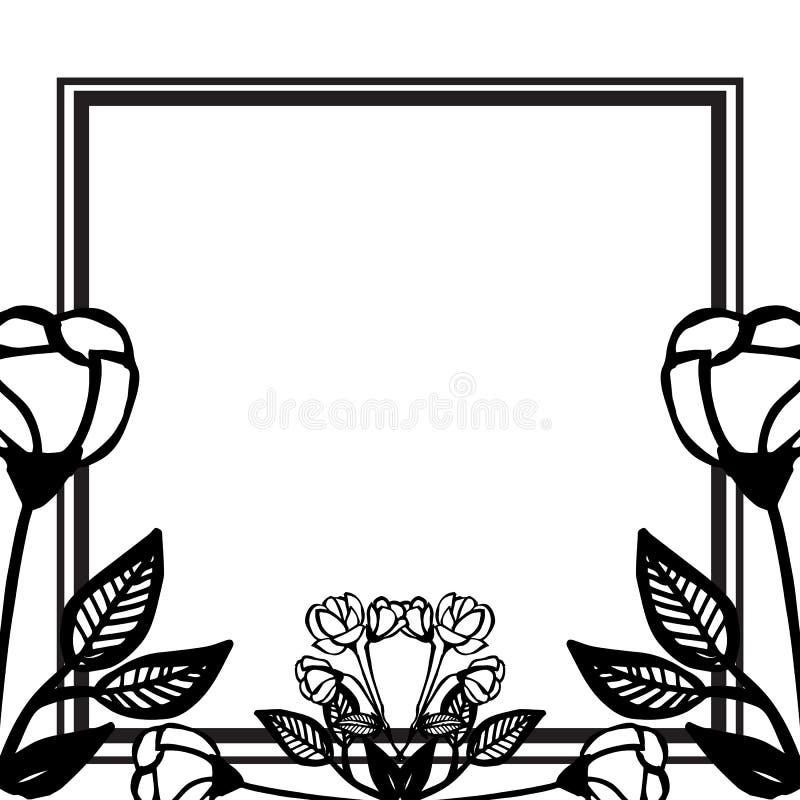 Designbeståndsdel som isoleras på vit bakgrund, härlig krans, tapet av kortet vektor vektor illustrationer