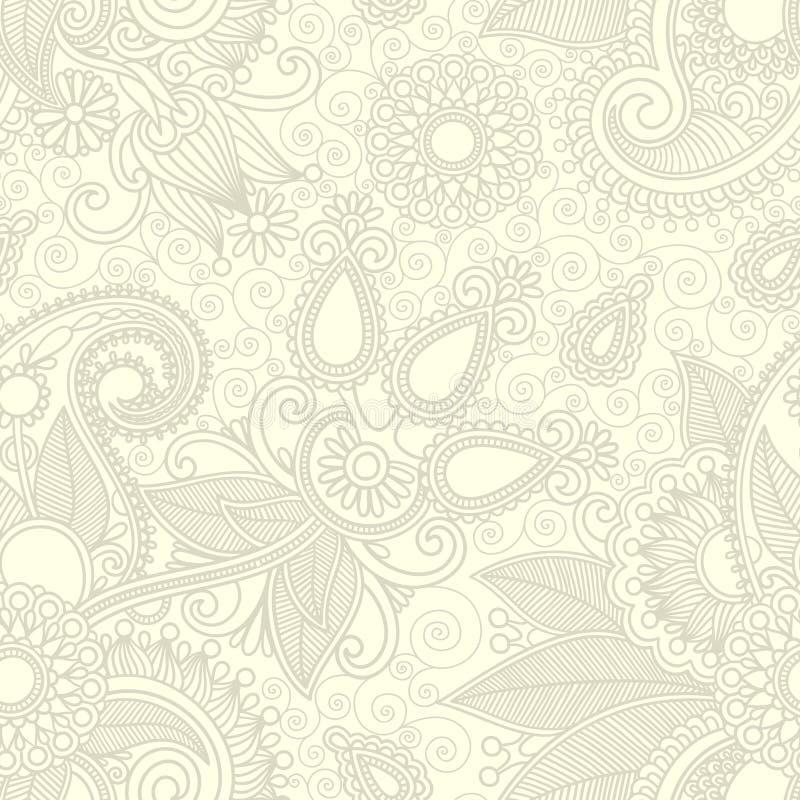 designblomma seamless paisley royaltyfri illustrationer