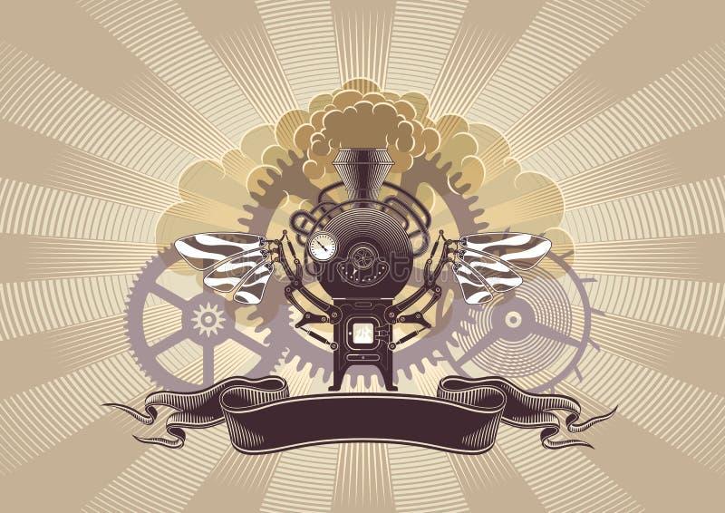 designdiagramsteampunk royaltyfri illustrationer