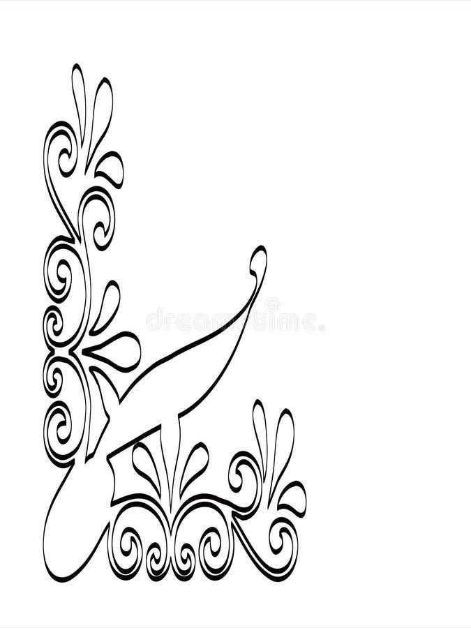Designe de canto ilustração royalty free