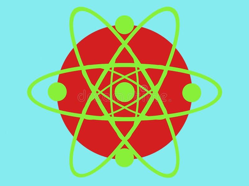 Designe di scienza del cerchio illustrazione vettoriale
