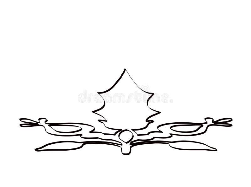 Designe mis en rouleau illustration de vecteur