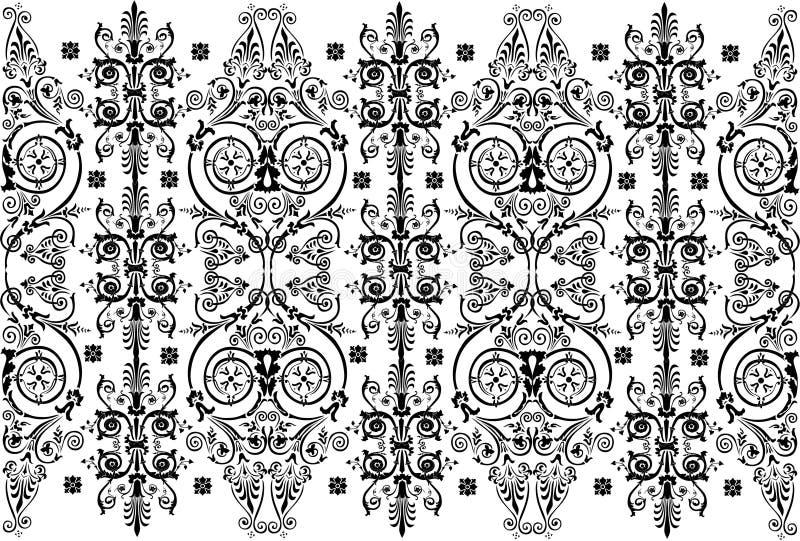 designe odizolowywający wzorzystości paska biel royalty ilustracja