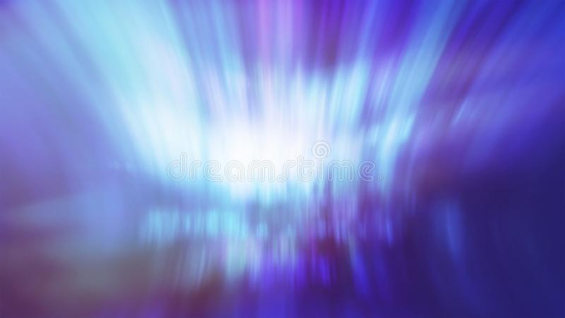 Designed film texture background blue aurora lights. Designed film texture background with heavy grain, dust and a light leak. Blurred defocused bright light stock photography
