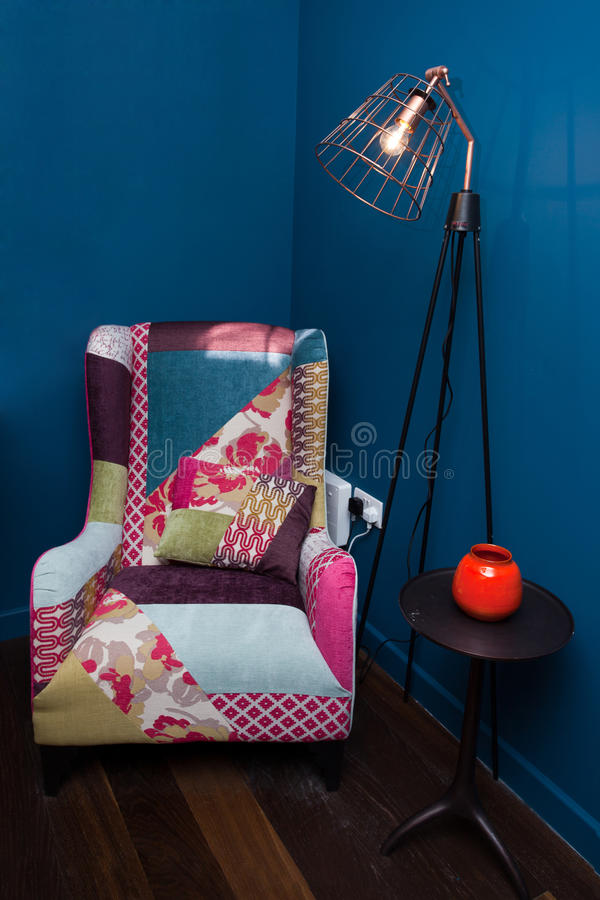 designed home interior living retro room style στοκ φωτογραφία με δικαίωμα ελεύθερης χρήσης
