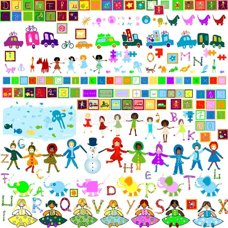 designelement royaltyfri illustrationer