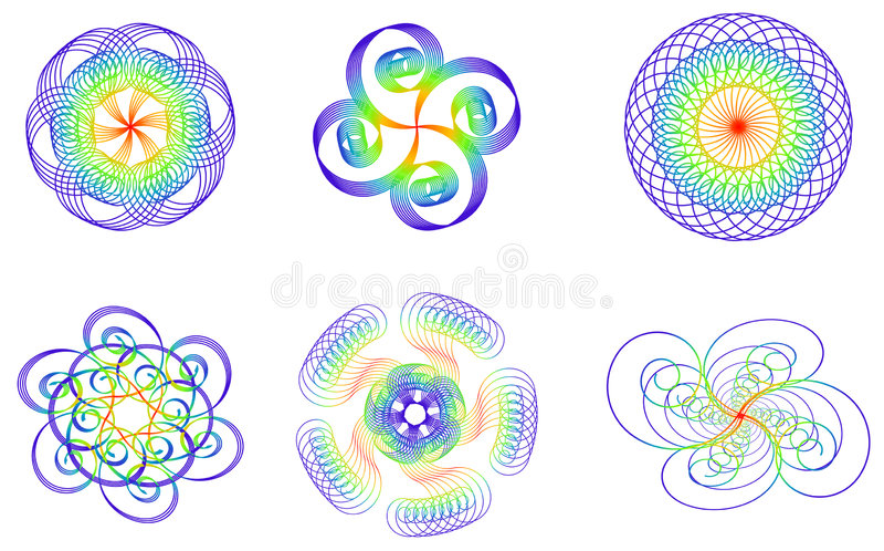 designelement few royaltyfri illustrationer