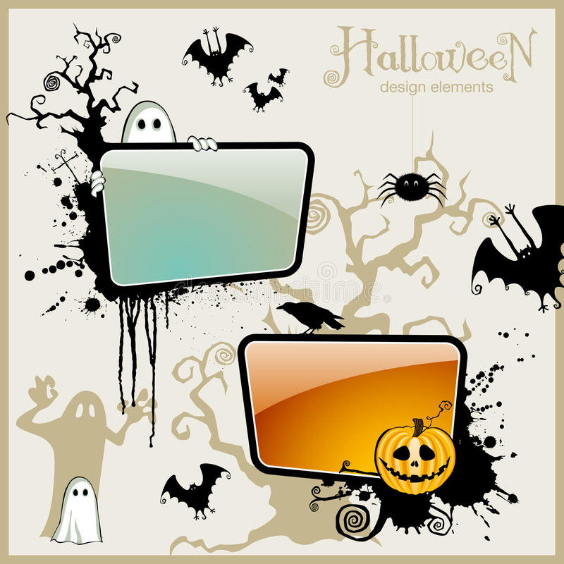 designelement halloween vektor illustrationer