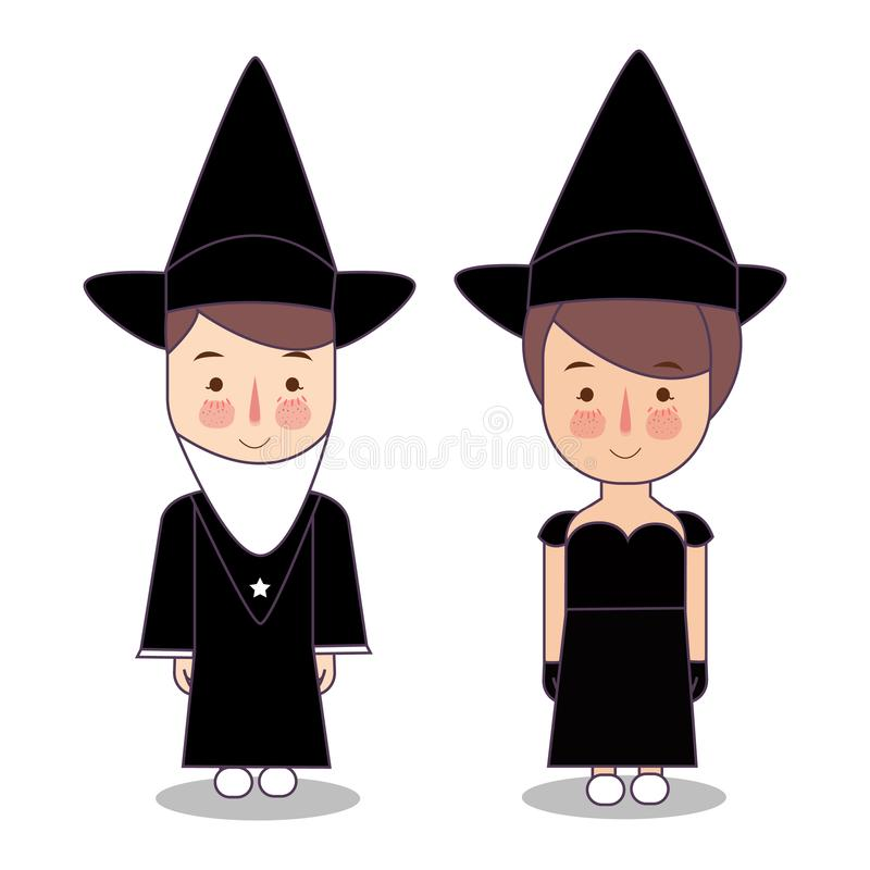 designelement halloween halloween symboler tillgänglig häxa för hattillustrationvektor Trollkarl Hat Hattar av trollkarlen Ungar  vektor illustrationer